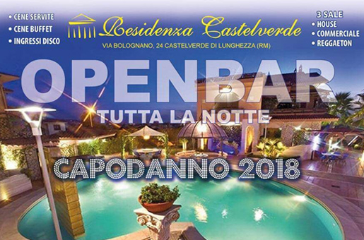 Capodanno Residenza Castelverde Roma 2018