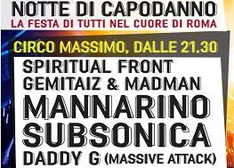 Capodanno Circo Massimo Roma 2016